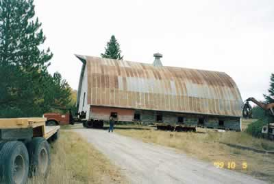 Moving the barn in 2000