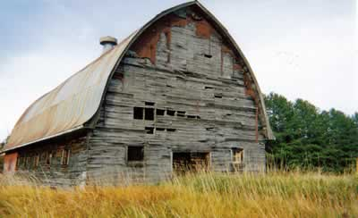 "The ""old barn"" before renovation"